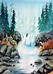 Waterfalls by Alina-Kurbiel