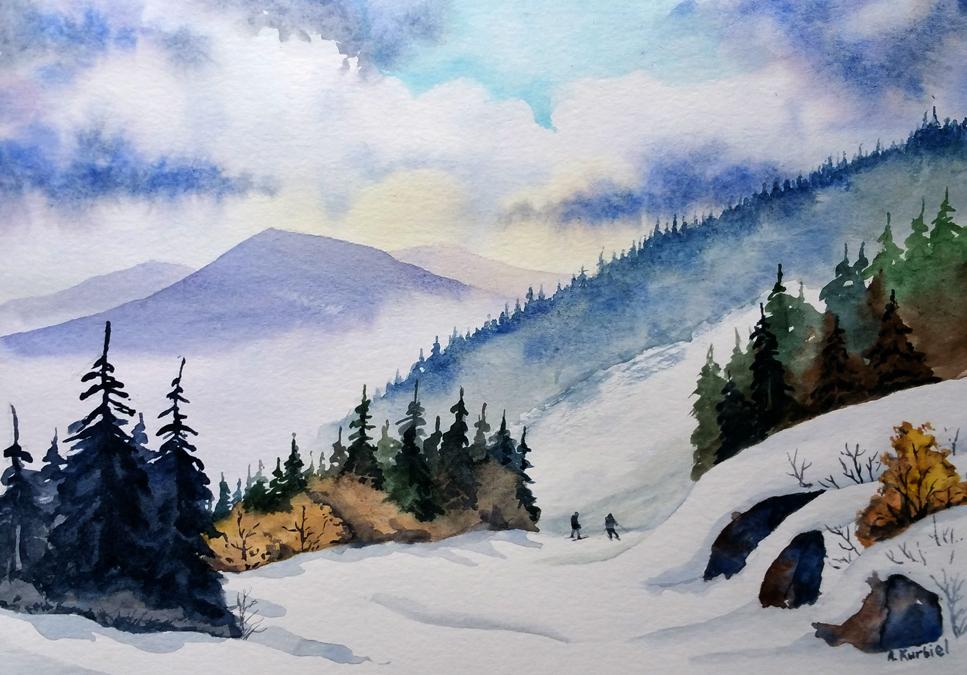 Skiing by Alina-Kurbiel