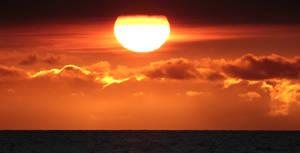 The sun says good night to me . . .