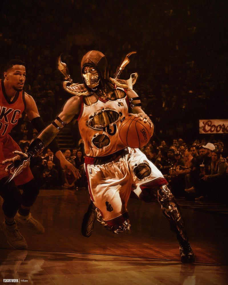 demar derozan basketball wallpaper art design by
