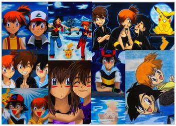 Ash-Misty-Pikachu Tribute by Yu-giMoto