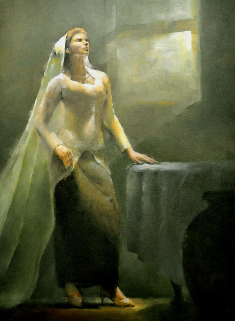Old Painting Of Full Figure By Alrasyid