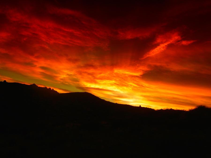 Desert Sunset by snowierstorm