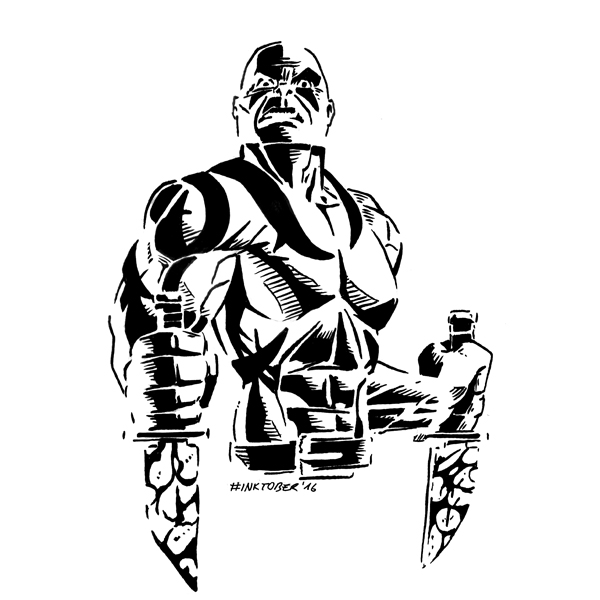 Inktober 2016, Day 23: Drax the Destroyer by spacehamster
