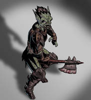 Moria Orc Colored by spacehamster