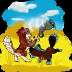 An Adorable Hunt [Commission] by IIIXKitsuneXIII