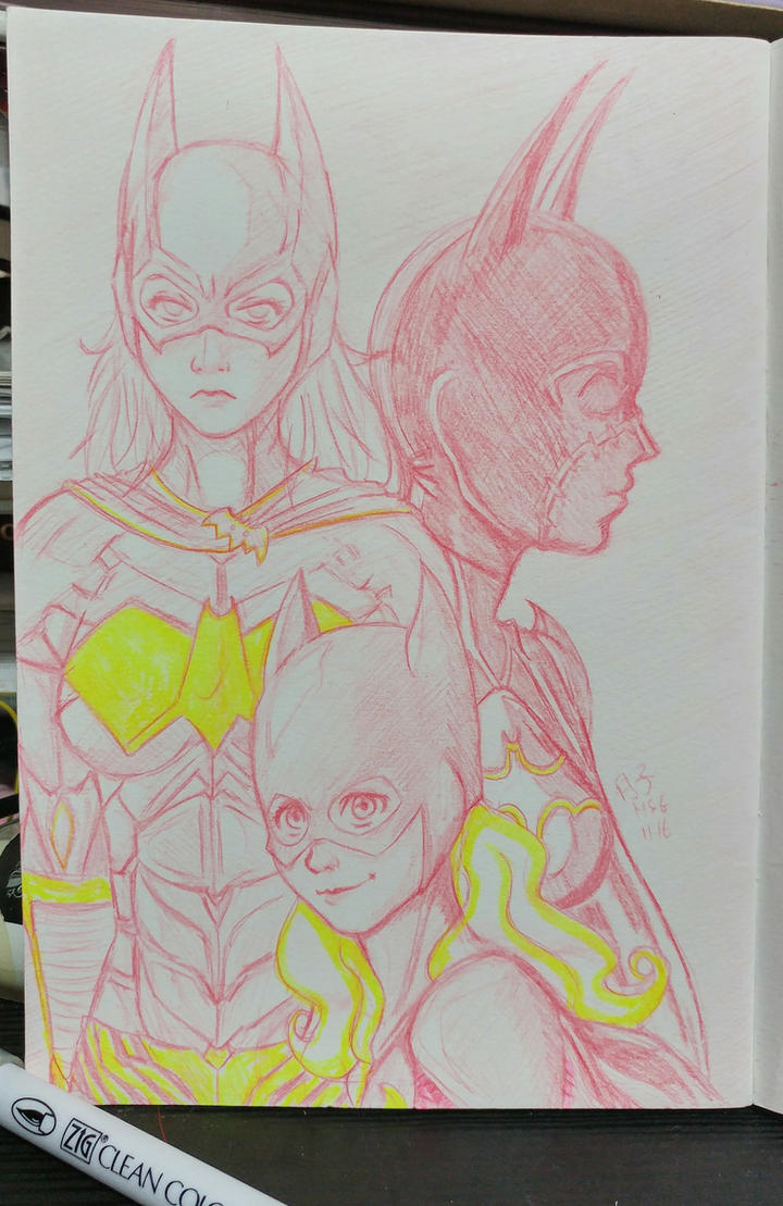 Batgirls: Cass, Steph and Babs by Tsukiko-chan