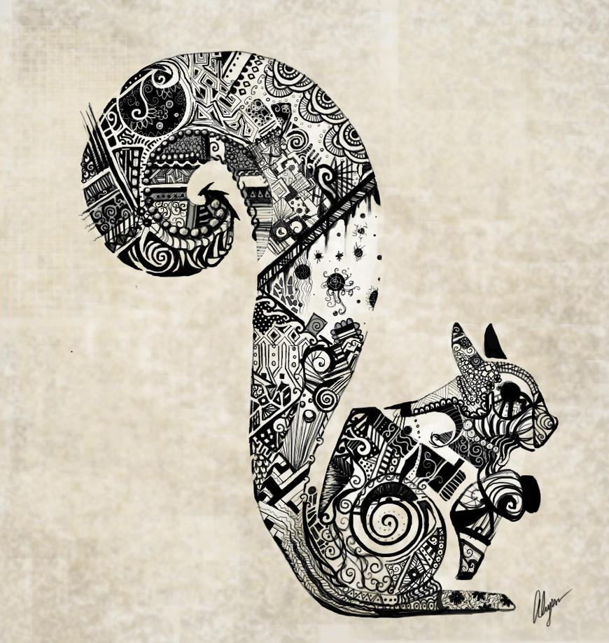 Zentangle Squirrel By Somethinkindepth On DeviantArt