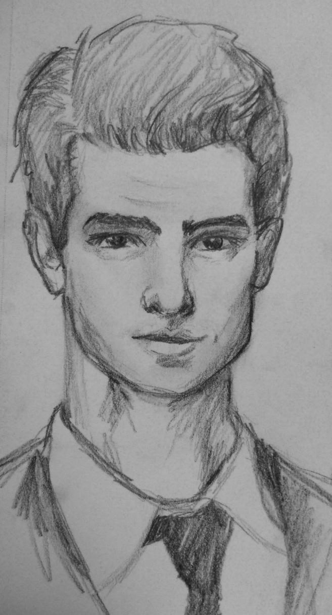 Andrew Garfield Spiderman Drawing Andrew Garfield Sketch by