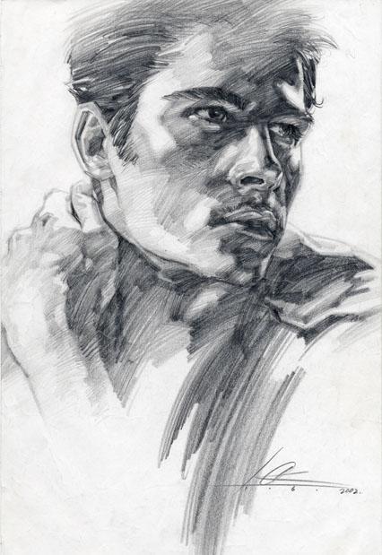 Man4 pencil by cklum