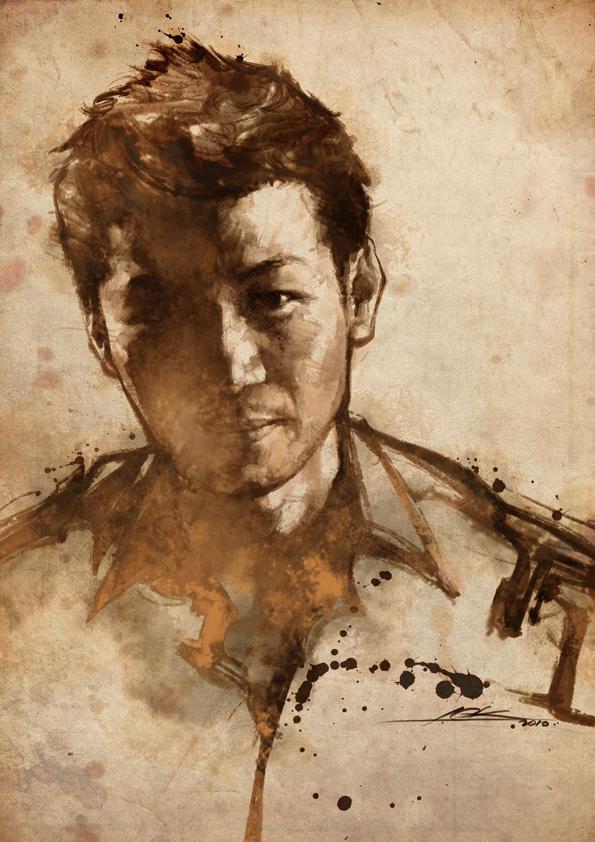 digital portrait paitning by cklum