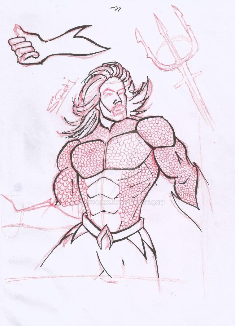Aquaman pencil drawing by truezacks