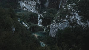 Mountains Waterfall Aerial View 148198 1600x900