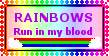 Rainbow Blood Stamp by MoonSweetMisfit