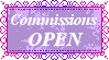 Commissions Open Stamp by MoonSweetMisfit