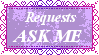 Requests Ask Me Stamp by MoonSweetMisfit