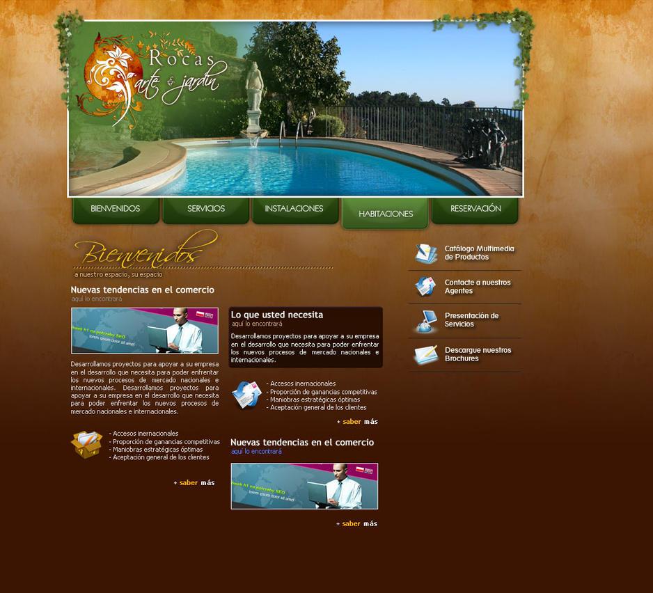 Rocas arte y jardin web design by dookg on deviantart for Rocas design