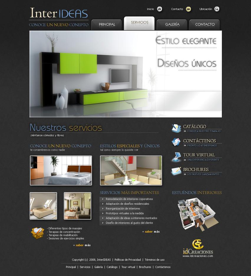 Diseno web para interiores by dookg on deviantart for Diseno de interiores paginas web