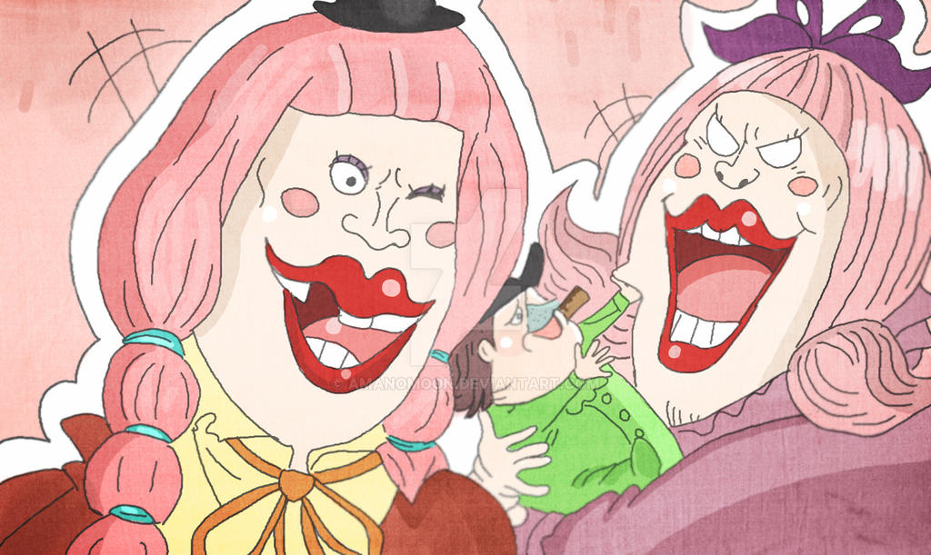 One Piece Chapter Charlotte Chiffon And Lola By Amanomoon On Deviantart
