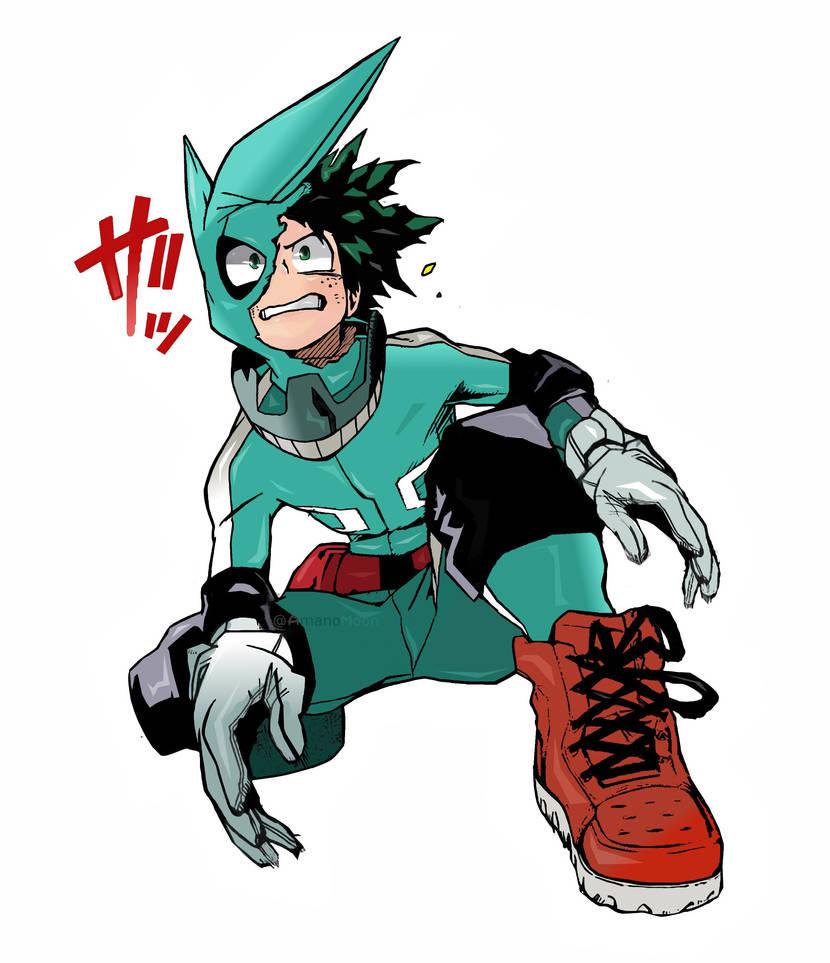 My Hero Academia Boku No Hero Izuku Midoriya Color By