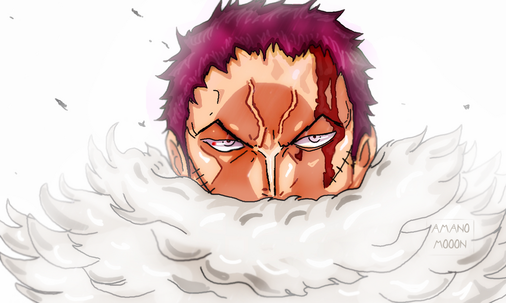 One Piece Chapter 884 Luffy vs Katakuri Face Color by Amanomoon