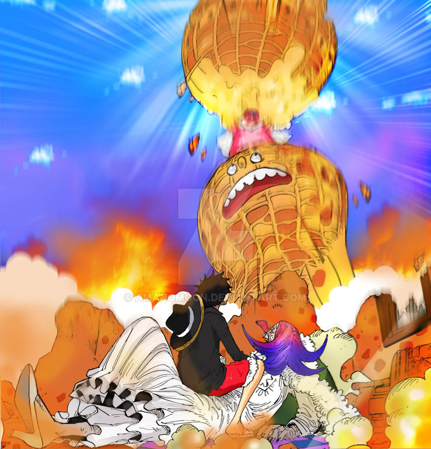 One Piece Chapter 885 BRULEE LUFFY  Nuts Island by Amanomoon