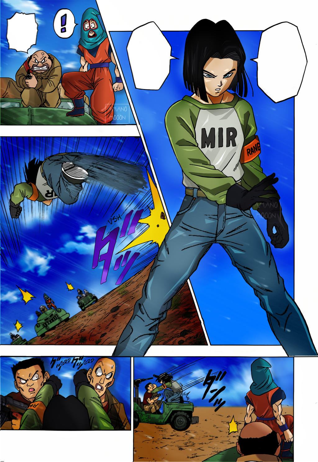Dragon Ball Super Goku and C18 Chapter 31 Colors by Amanomoon on