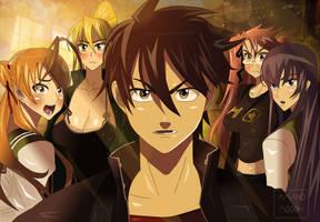 HighSchool of the Dead Anime Manga Takashi's Group by Amanomoon