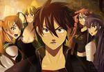HighSchool of the Dead Anime Manga Takashi's Group