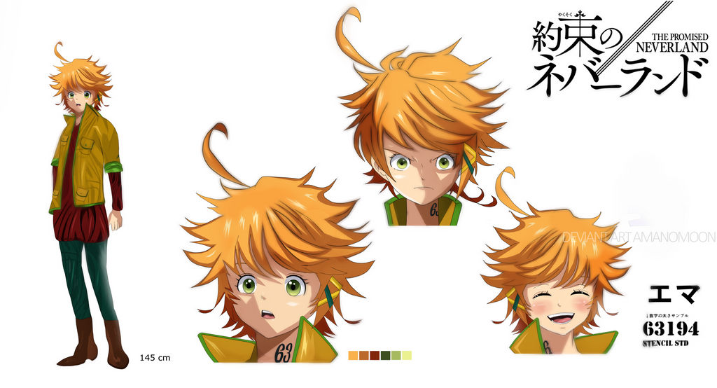 The Promised Neverland Anime Character Design Emma by