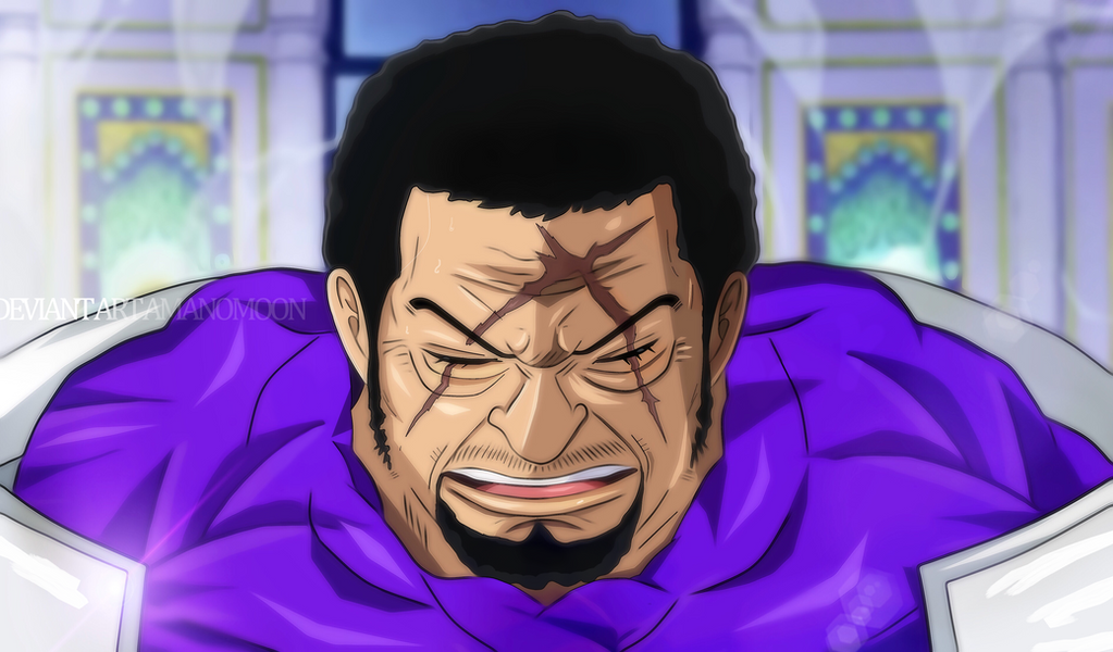 One Piece 905 Fujitora Admiral Ryokugyu Green Bull by Amanomoon