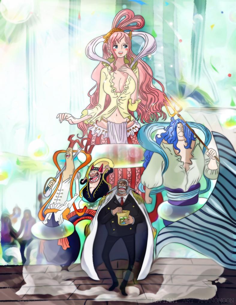One Piece 905 Garp go Reverie Shiraoshi Kingdom by Amanomoon