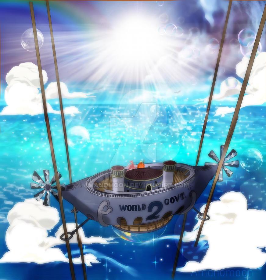 One Piece 905 Shirahoshi Sun Sky Bandolas Colors by Amanomoon