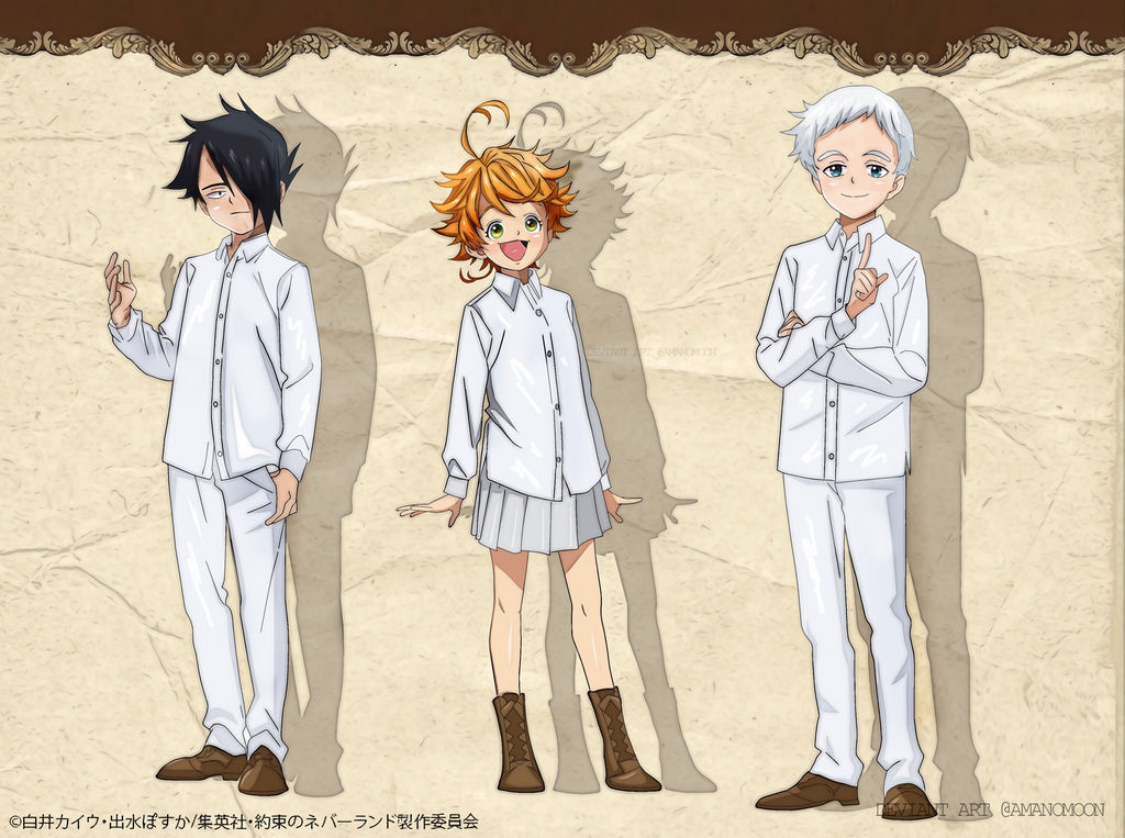 The Promised Neverland Anime Character Design Colo By Amanomoon On