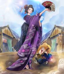 One Piece 909 O Robi Geisha Nico Robin Wano Kuni by Amanomoon
