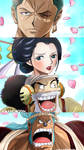 One Piece Chapter 909 Wano Mugiwara Samourai Anime by Amanomoon
