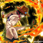 One Piece 912 Portgas Gol D Ace Flash back Anime by Amanomoon
