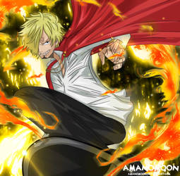 One Piece Vinsmoke Sanji Whole Cake Island Anime  by Amanomoon