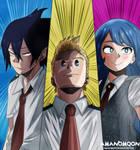 My hero Academia Boku hero Big Three Anime Mirio