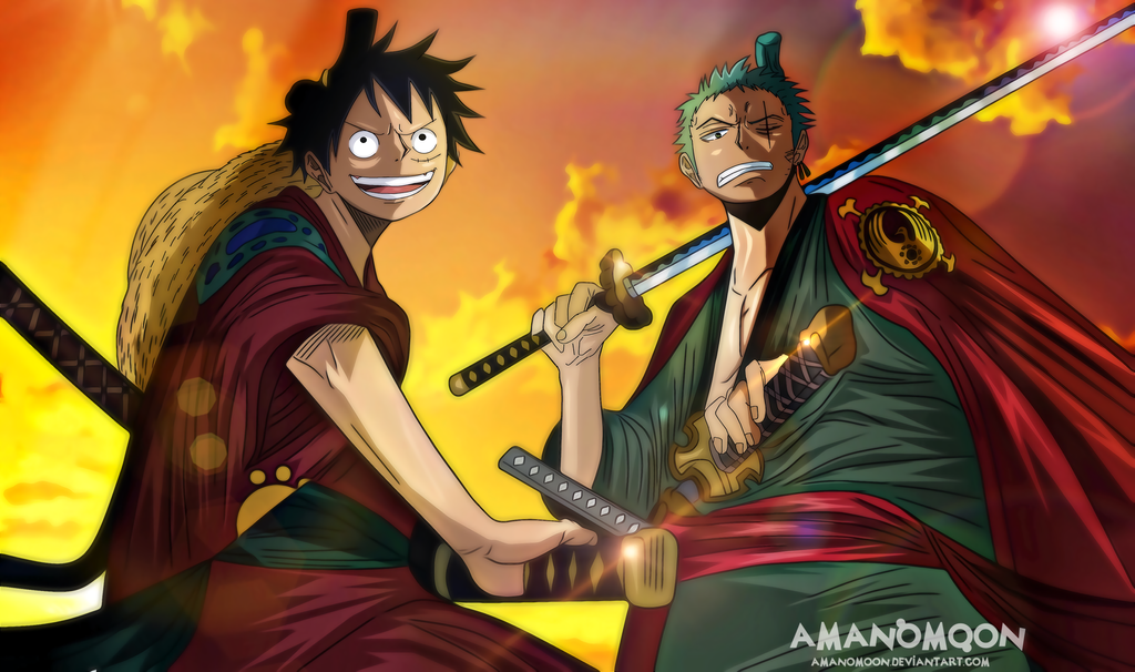 One Piece Chapter 912 Zoro and Luffy back Basil by Amanomoon