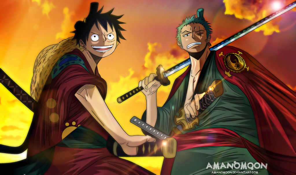 09ceb7ab06d One Piece Chapter 912 Zoro and Luffy back Basil by Amanomoon on ...