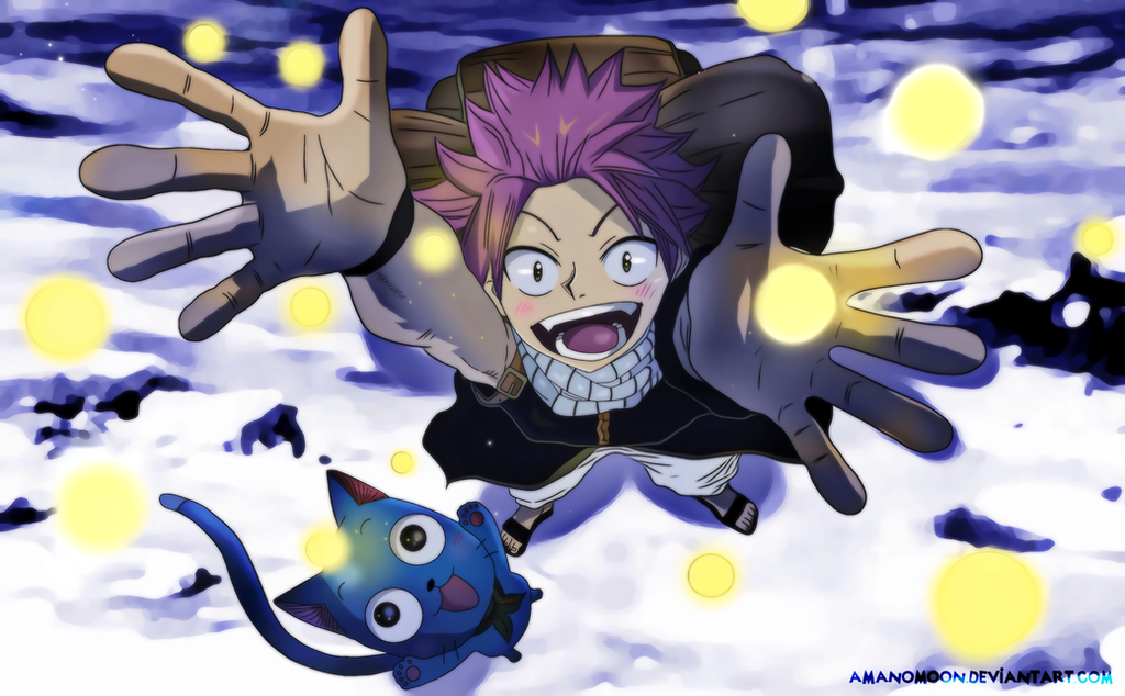 Fairy Tail 100 Years Quest 2018 Anime Natsu Happy by Amanomoon