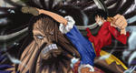 One Piece Luffy vs Kaido Anime Wano Kuni Artwork