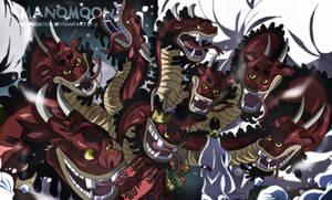 One Piece 932 Orochi Hydra Form Komurasaki Oiran by Amanomoon
