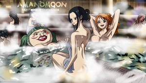 One Piece Chapter 935 Robin Nami Onsen Bath Sexy by Amanomoon