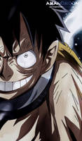 One Piece Chapter 936 Luffy Royal Haki Smile Wano  by Amanomoon