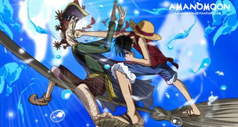 One Piece Romance Dawn Story Luffy Shupeal Spiel  by Amanomoon