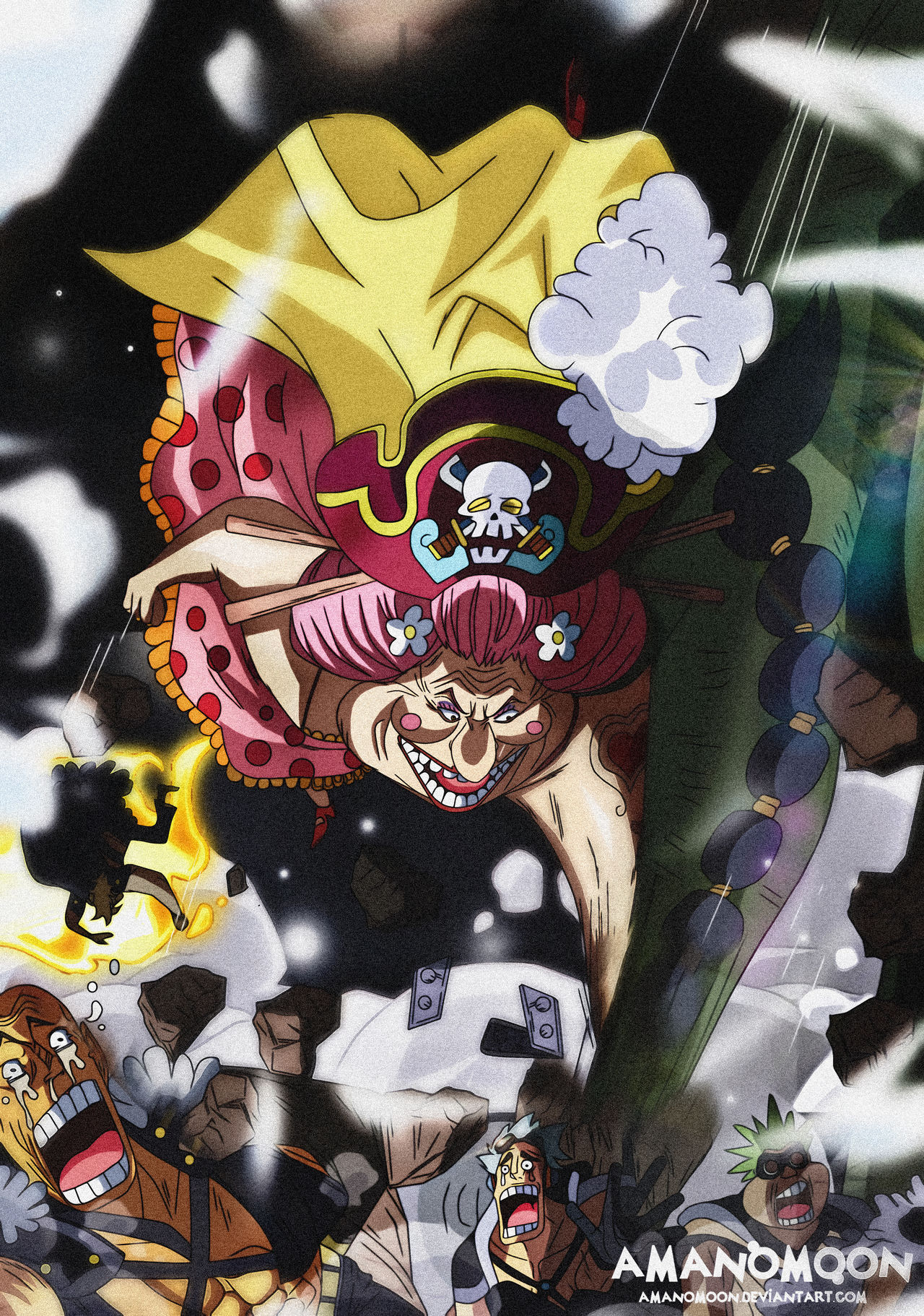 One Piece Chapter 945 Big Mom Vs Queen Colored By Amanomoon On