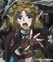 Zelda Breath of the Wild 2 Princess Zelda Fanart by Amanomoon