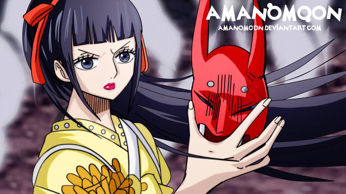 One Piece 948 O-Kiku Mask revelead Kawamatsu Udon by Amanomoon